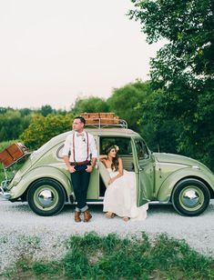 With the culture of limos and party buses, having a tiny vintage wedding getaway car lends a nostalgic feel to the celebrations. Instead of bigger is better, it's time to start thinking about what your wedding says about you as a couple and how your choice of transportation fits the overall theme.