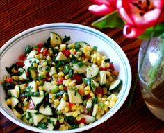 Picnic Corn-Zucchini Salad from Food.com:   Cook more than you think you'll need for one evening and serve this salad the next day at a picnic! Adapted from Delicious Living magazine.