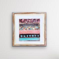 Abstract Flower Art, Reclaimed Wood Art, Watercolor Landscape Paintings, Square Art, Wood Wall Art, Painting On Wood, Framed Art, Original Paintings, Fine Art Prints