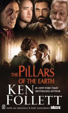 The Pillars of the Earth Novel by Ken Follett; The Pillars of the Earth is a historical novel by Ken Follett published in 1989 about the building of a cathedral in the fictional town of Kingsbridge, England. I Love Books, Great Books, Books To Read, My Books, Ken Follett, Earth Book, Historical Fiction Books, Historical Romance, Cinema