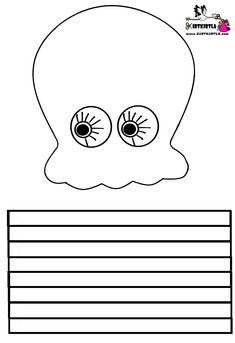 octopus coloring page, paint cut paste, preschool kids for you . Preschool Crafts, Fun Crafts, Arts And Crafts, Diy Crafts For Kids, Octopus Crafts, Ocean Crafts, Christmas Crafts For Kids, Summer Crafts, Octopus Coloring Page
