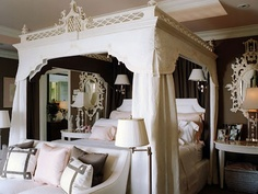 What a gorgeous canopy bed.