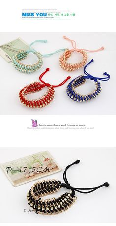 Genuine Dark Blue Multilayer Metal Chain Weaving Rope Design Alloy Korean Fashion Bracelet,Korean Fashion Bracelet  http://earrings.asumall.com/