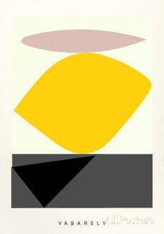 Souzon - Screentryck av Victor Vasarely på AllPosters.se
