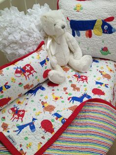 Farmyard Cot Crib Quilt Sale