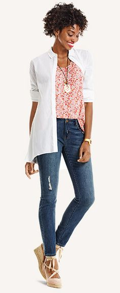 Denim Guide | Skinny, Curvy, Boot & Boyfriend Jeans | cabi spring 2016  Contact me to purchase - jeanettemurphey@gmail.com, or visit www.jeanettemurphey.cabionline.com