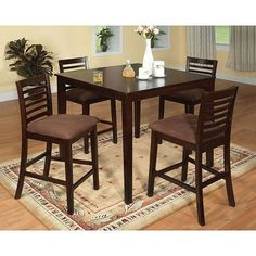 Attractive Furniture Of America Eazton Transitional Microfiber Counter Height Dining  Set   Overstock™ Shopping   Big Discounts On Furniture Of America Dining  Sets Great Pictures