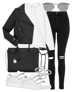 """""""Untitled #2405"""" by mollyk99 ❤ liked on Polyvore featuring Topshop, Marc by Marc Jacobs, Yves Saint Laurent, MICHAEL Michael Kors, Apt. 9 and Linda Farrow"""