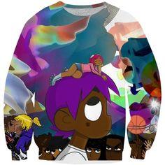 Lil Uzi Vert vs. The World Sweatshirt ($60) ❤ liked on Polyvore featuring tops, hoodies, sweatshirts and uzi