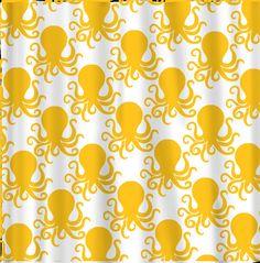 Custom Octopus Shower Curtain