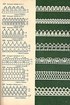 Bicos de crochê by LeiaCook 231-237