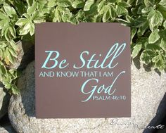 Bible verse scripture wood sign  BE STILL and by DESIGNandCREATE