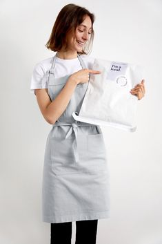 I'm a Local 💙 Designed as the perfect Apron for home cooks, makers, bakers and creators, our Bonnie Apron in Ice Grey delivers a fresh, modern colour palette to any home. Better yet, the Bonnie Apron is made from fabric to final product right here in Australia, so every one sold is helping to #SupportLocal manufacturing industry. Modern Color Palette, Colour Pallete, Modern Colors, Bib Apron, Aprons, Name Embroidery, The Bonnie, Embroidery Services, Apron Designs