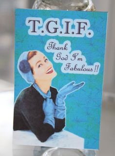 Retro Housewife Humorous Magnet  Thank God I'm by RetroCuties, $4.99