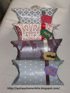 Another use for toilet paper rolls- gift wrap :)