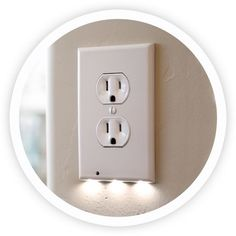 The SnapPower Guidelight is a plug-and-play replacement for standard plug-in night lights and hardwired lights. No wires or batteries needed!