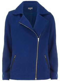 Royal blue long biker coat - 20% off selected brands - View all Clothing Brands  - Clothing