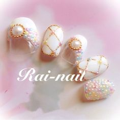 ネイル 画像 Rai-nail 692697 ホワイト パール ブライダル