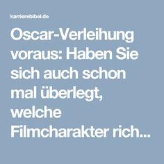Oscar-Verleihung voraus: Haben Sie sich auch schon mal überlegt, welche Filmcharakter richtig tolle Kollegen wären? Hier sind unsere Top Ten.  http://karrierebibel.de/oscar-verleihung/