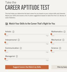 Most Of Us Have A Variety Of Skills And Interests, Which Makes Choosing A  Career Path Tricky. Rasmussen Collegeu0027s Free Online Career Aptitude Test  Lets You ...  Career Aptitude Test Free
