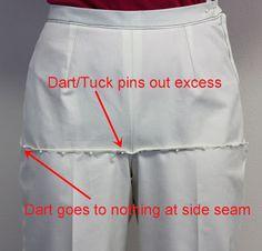 Sure-Fit Designs™ Blog: pants fitting. Removing horizontal fold under the tummy. #surefitdesigns #patternfitting #pantsfitting