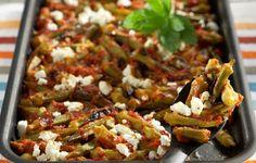 Μπάμιες στο φούρνο με ντομάτα, δυόσμο και φέτα - Συνταγές - Πιάτα ημέρας | γαστρονόμος