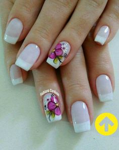 Floral pattern nails step by step Shellac Nail Designs, Shellac Nails, Nail Art Designs, Cute Toe Nails, Cute Toes, Nail Patterns, Pattern Nails, Manicure E Pedicure, Lily