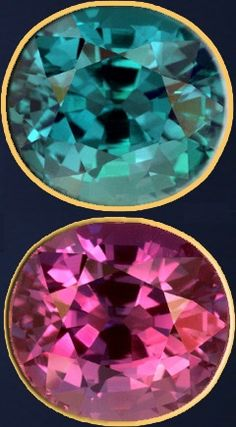 Alexandrite color change - at 12,000 USD/carat alexandrite is one of the most expensive gemstones in the world.    Read the article for even more expensive gemstones.