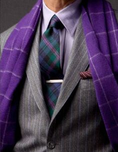 Pinstripe jacket, great color combo