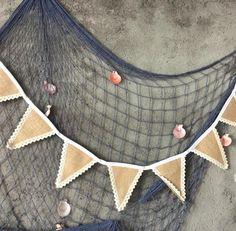 1Set 8Flags Vintage Burlap Banner Bunting Flags Wedding Decoration Centerpieces - Wedding Look