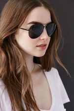 Shop Classic Aviator Sunglasses at Urban Outfitters today. We carry all the latest styles, colors and brands for you to choose from right here. Best Aviator Sunglasses, Aviator Glasses, Black Sunglasses, Sunglasses Women, Meghan Markle, Urban Outfitters Sunglasses, Trending Sunglasses, Aviation, Style