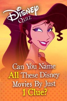 Disney Quiz: Can You Name All These Disney Movies By Just One Clue? Disney Pixar, Walt Disney World, Disney Test, Film Disney, Disney Movies, Disney Movie Characters, Disney Songs, Princess Quizzes, Disney Princess Facts