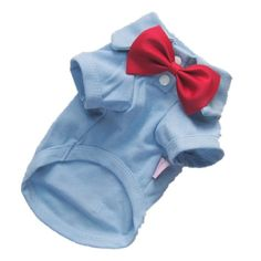 Petparty Comfy Cotton Dog Polo Clothes Dog Polo Shirt Dog Shirt Free Shipping,Lightblue with red bow,XS - http://www.thepuppy.org/petparty-comfy-cotton-dog-polo-clothes-dog-polo-shirt-dog-shirt-free-shippinglightblue-with-red-bowxs/