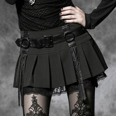 Gothic punk rave gothic punk single laciness short skirt q220bk