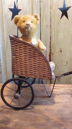 Antique Doll Cart Two Wheels Long Handle | eBay