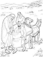 Filippus en de moorman felipe e o eunuco bijbel for Ethiopian coloring pages