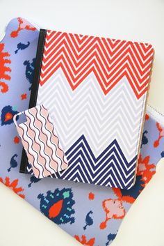 Chevron New iPad or iPad 2 Case - Afghan Collection. Customizable: choose any 3 colors. $60.00, via Etsy.