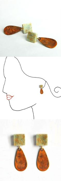 Handmade earrings. Unique design.   All the collection at www.caixademistos.com   Online Shop at Dawanda coming soon!