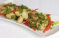 Kartoffelsalat med chili-og citrondressing