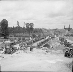 4 July 1944 Normandy. Bailey bridge being built by 72nd Field Company Royal Engineers at St Loup Hors nr Bayeaux #DDay70 http://twitter.com/sommecourt/status/484939706270883841/photo/1