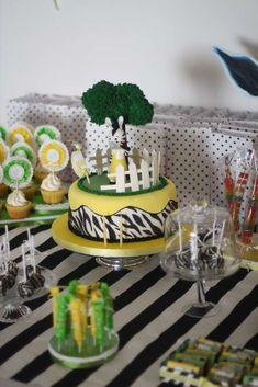 zebra Birthday Party Ideas | Photo 1 of 14 | Catch My Party