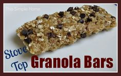 Chewy Granola Bars made on the stove top.  Super easy!