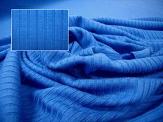 7x4 Merino Rib, 180gsm, Lapis, Levana Textiles Factory Shop, Made in New Zealand