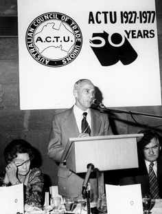 ACTU 50th anniversary with Harold Souter