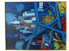 Henk Willemse (1915-1980) was een Nederlands kunstenaar. Na de Tweede Wereldoorlog kwam zijn loopbaan in een stroomversnelling. In 1951 was hij één van de oprichters van de Amsterdamse Kunstenaars Combinatie. Hij sloot vriendschap met de schilders van de Cobragroep, zoals Karel Appel, Eugène Brands en Jan Sierhuis. - Afbraak New York (1975)