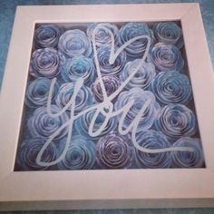 Hand rolled paper flowers/Shadow box, by Denim & Daisies