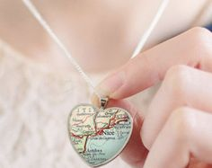 Pendant in Necklaces - Etsy Jewellery Map Necklace, Arrow Necklace, Necklaces, Etsy Jewelry, Jewellery, Custom Map, Pendants, Silver, Gifts