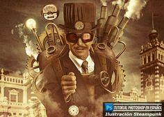 Tutorial de Photoshop CS6 en español: Ilustración Steampunk