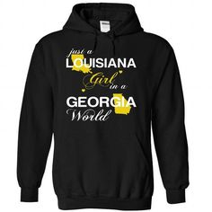 (LAJustVang002) Just A Louisana Girl In A Georgia World - #shirt print #black hoodie. WANT THIS => https://www.sunfrog.com/Valentines/-28LAJustVang002-29-Just-A-Louisana-Girl-In-A-Georgia-World-Black-Hoodie.html?68278