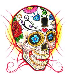 Sugar Skull Art Wallpaper | Sugar Skull by clicketyclock on deviantART